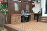 Composite deck with built in bbq centre.