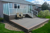 Two tiered composite deck.
