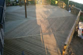 Sample of custom wood deck work