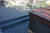 Finished Product: Grey composite decking