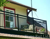 Powder coated aluminium rails