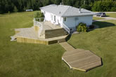 Custom wood deck.